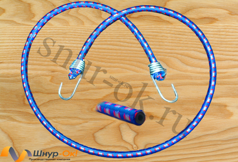 Резинка багажная с крючками, наполнитель синтетический каучук